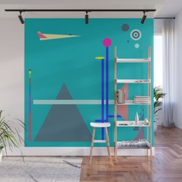 Two Sequences, Pyramid, Tower and Target Wall Mural