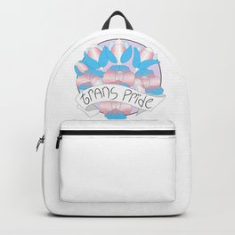 Trans Pride Flowers Backpack