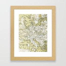 1938 Europe Framed Art Print