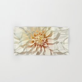 Dahlia white macro 043 Hand & Bath Towel