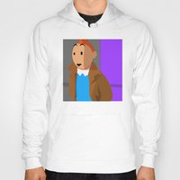 tintin Hoodies featuring Tintin, the young reporter by DocPastor