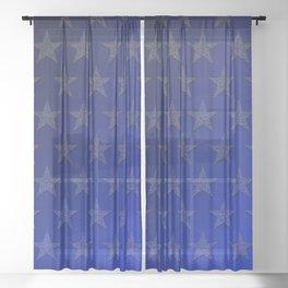 Stella (blue) Sheer Curtain