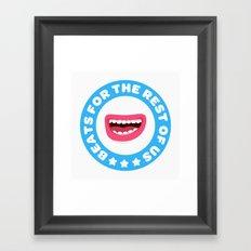 Beatbox for the rest of us Framed Art Print