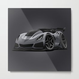 Modern American Sports Car Cartoon Metal Print
