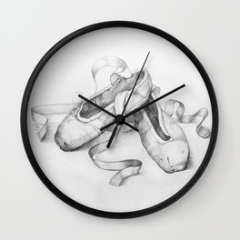 Ballet shoes Wall Clock