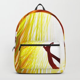 Ladies figure skating. Ballet dancer, ballerina. Winter sport ice rink Backpack