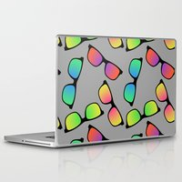 sunglasses Laptop & iPad Skins featuring Sunglasses Pattern by Karolis Butenas