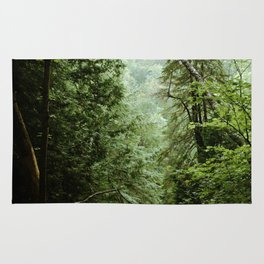 Deep Green Forest Rug