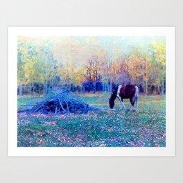 Fall at the Ranch Art Print
