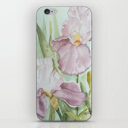Lavender Beauties (irises) iPhone Skin