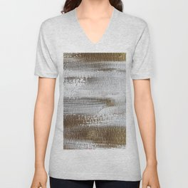 Metallic Abstract Painting 3 #texture #minimalism Unisex V-Neck