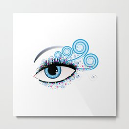 Winter eye Metal Print