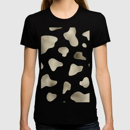 Golden cow hide print T-shirt
