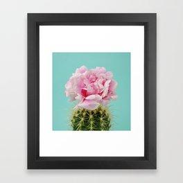 Cactus peony Framed Art Print