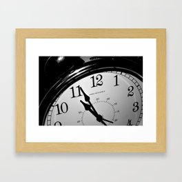 On a Clock that Tells the Time Framed Art Print