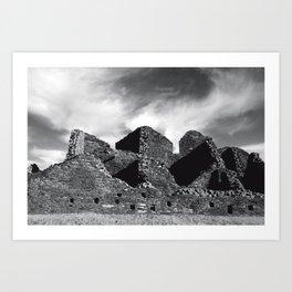 Chaco Canyon, March 2007 Art Print