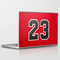 chicago bulls Laptop & iPad Skins featuring Michael 23 Jordan Chicago Bulls by Rorzzer