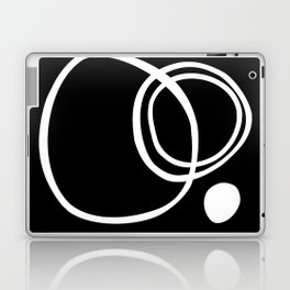 Black and White Circles Abstract Modern Laptop & iPad Skin