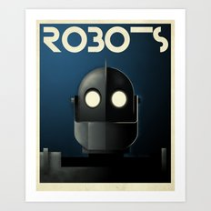 Robots - Iron Giant Art Print