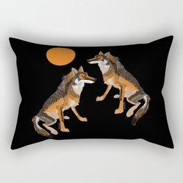 Iberian wolves and the sun (c) 2017 Rectangular Pillow