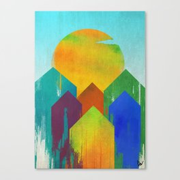 The West Aglow Canvas Print