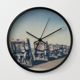 Cadillac Ranch - Route 66 Wall Clock