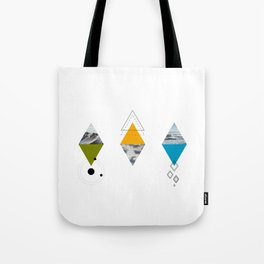 Ocean Mountains Clouds Tote Bag