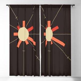 paper sun || charcoal Blackout Curtain