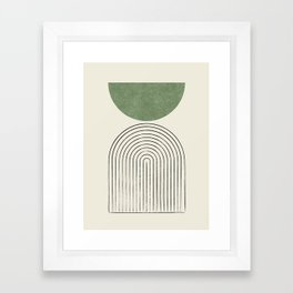 Arch balance green Framed Art Print