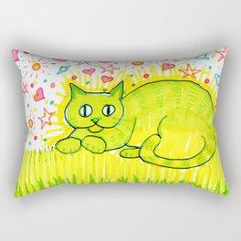 Psychic Cat Rectangular Pillow