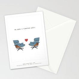Mid-Century Lounge Chair Love Stationery Cards