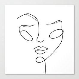Lady face white Canvas Print