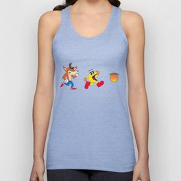 Crash Bandicoot Vs. Pacman Unisex Tank Top