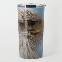 White Headed Eagle Portrait. Travel Mug