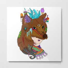 Bito - Masquerade Collection Metal Print