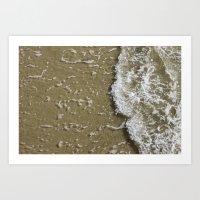 Waves Crashing on the Shore Art Print