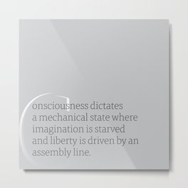 a letter to oneself : liberty Metal Print