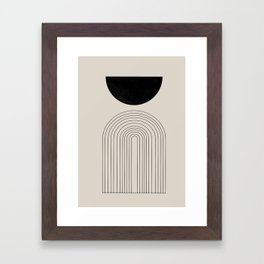 Arch, geometric modern art Framed Art Print