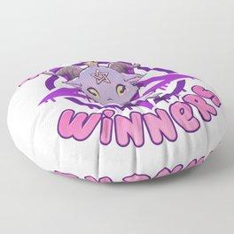 Sinners are Winners - Creepy Cute Baphomet T-Shirt Floor Pillow
