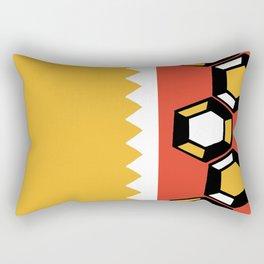 Gem Stripe - Yellow, Orange, White, Black Rectangular Pillow