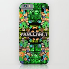 Building Green Grass with Minecrafters iPhone Case