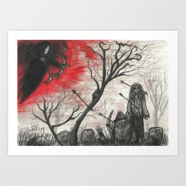 Red Death Art Print