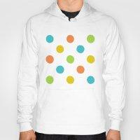 polka dot Hoodies featuring Colorful polka dot pattern by Natalia Bykova