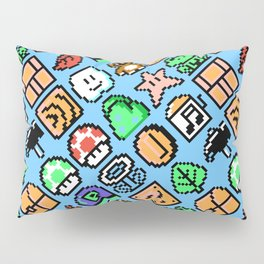 Super Mar!o Bros. 3 | blue sky | retrogaming nostalgia pattern Pillow Sham