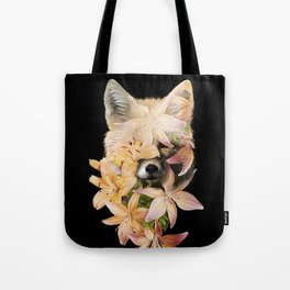 Foxy Flowers Tote Bag