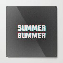 Glitch Summer Bummer Metal Print