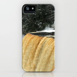 Wintry Waterfall iPhone Case