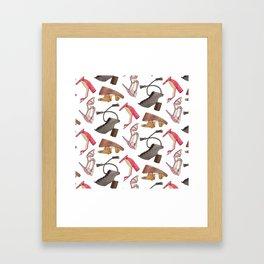 Sandal Pattern Framed Art Print