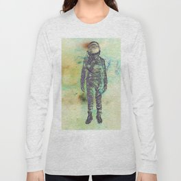 Silver Spaceman Inverted Long Sleeve T-shirt
