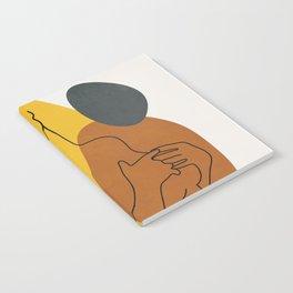 Minimal Line Art Woman Figure II Notebook
